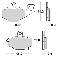 Арт 0016. Задние тормозные колодки Kawasaki ZX/ZZR/ER/Z/GPZ. 1000