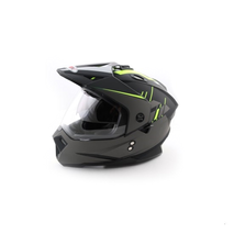 Шлем мотард Ataki FF802 Strike, Hi-Vis желтый/черный матовый 4500