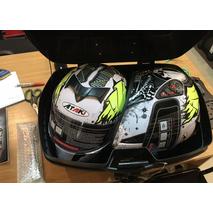Задний кофр 56-45-32, 54L, 2 шлема (c крепл. чёрный) 9500