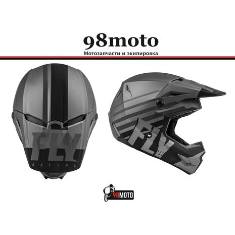 Шлем (кроссовый) FLY RACING KINETIC THRIVE серый/черный матовый (2021) 8500