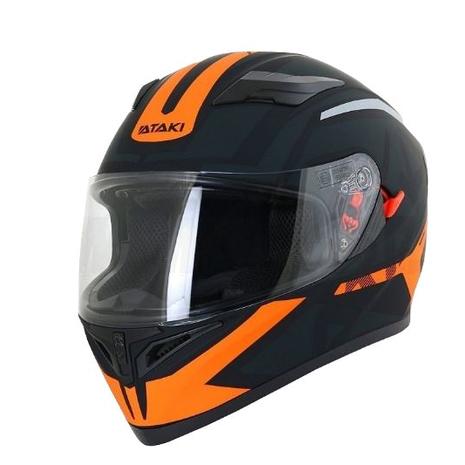 Шлем (интеграл) Ataki JK316 Route черный/оранжевый матовый 4200