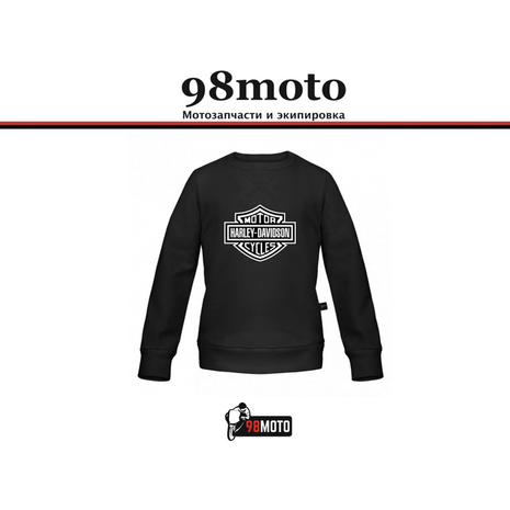 Толстовка Harley Davidson черный, XL 2000