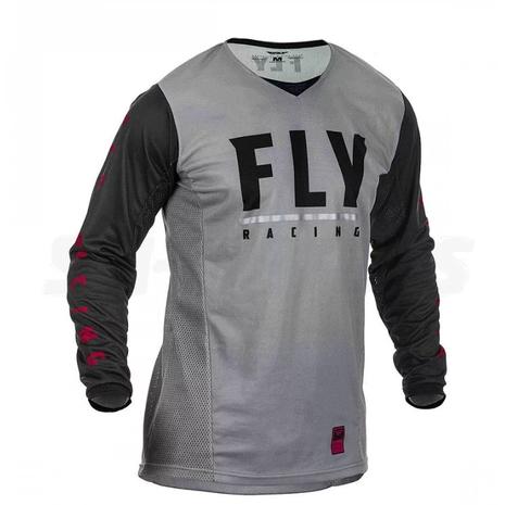 Футболка для мотокросса FLY RACING PATROL серая/черная (2020) 2900