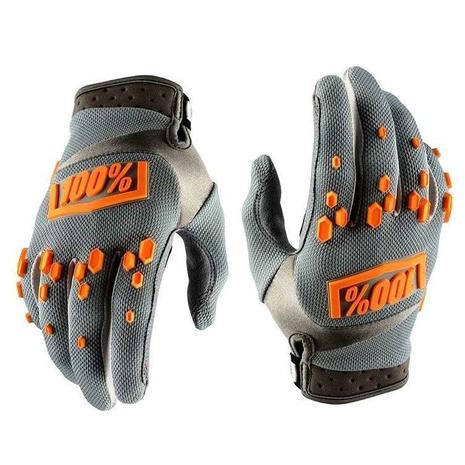 Перчатки 100% (XL) серо-оранжевые 1200
