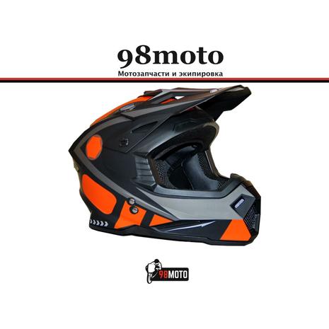 Шлем кроссовый Ataki MX801 Strike оранжевый/черный матовый 4500